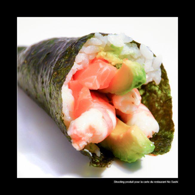 Réalisation d'un shooting produit pour la réalisation du menu du restaurant No Sushi à Toulon