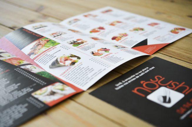 Création du menu du restaurant No Sushi à Toulon + Réalisation des photos du menu