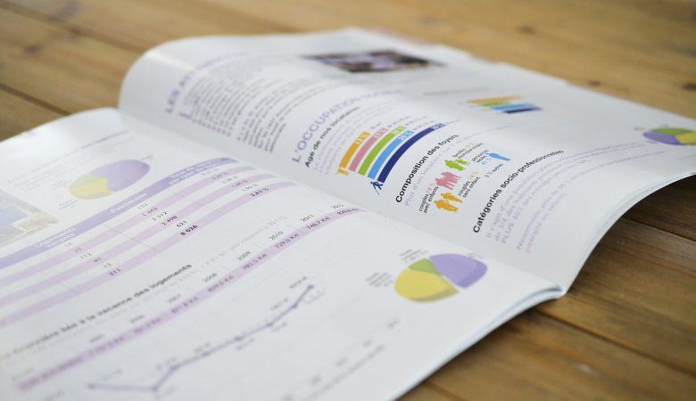 Création graphique et mise en page du rapport d'activité de Toulon Habitat Méditerranée