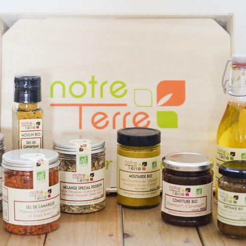 Création des nouvelles étiquettes de la marque Bio Notre Terre à Six Fours les Plages