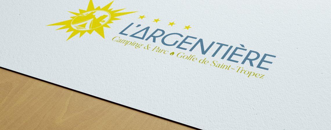 Lifting du logo du camping l'argentière situé à Cogolin dans le golfe de Saint-Tropez