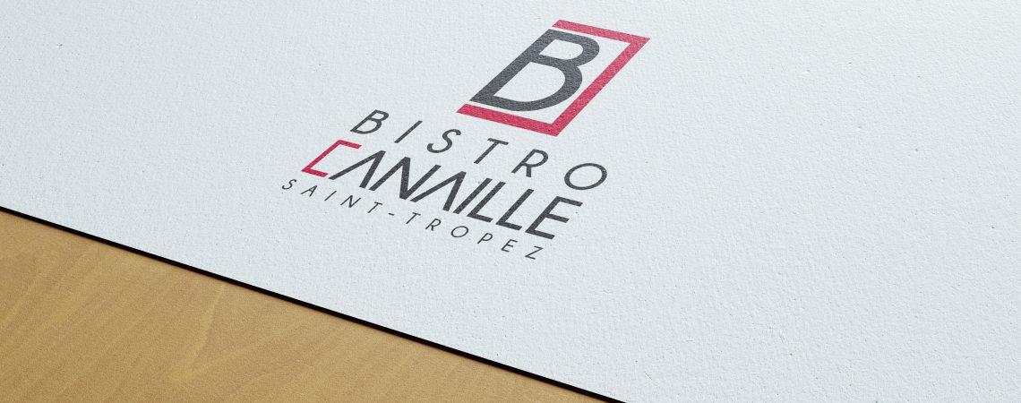 Création du logo pour le restaurant bistro canaille situé à Saint-Tropez dans le var.