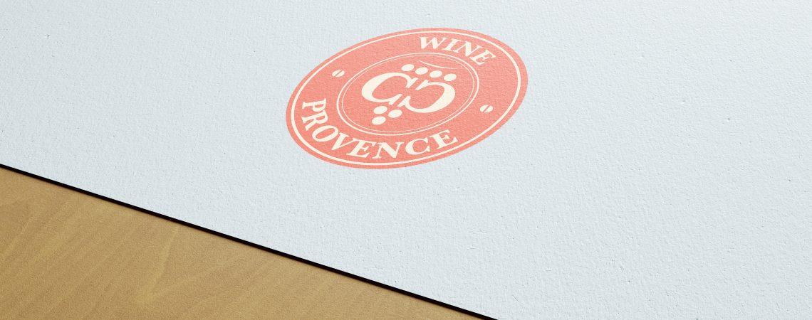 Création du logo pour l'entreprise cc wine provence. Vous pouvez retrouver ce distributeur de vins sur tous les marchés de la côte d'azur.