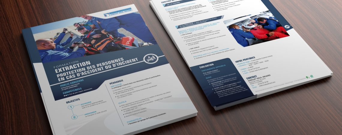 Fiche de présentation d'une des formations organisées par le circuit Paul Ricard.