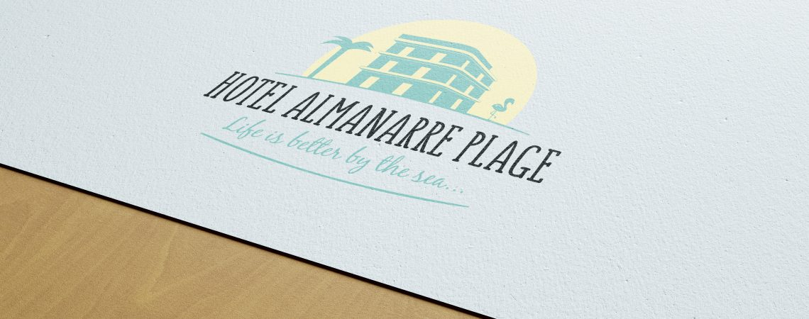 Création du logo pour l'hôtel Almanarre plage situé à Hyères les Palmiers dans le var.