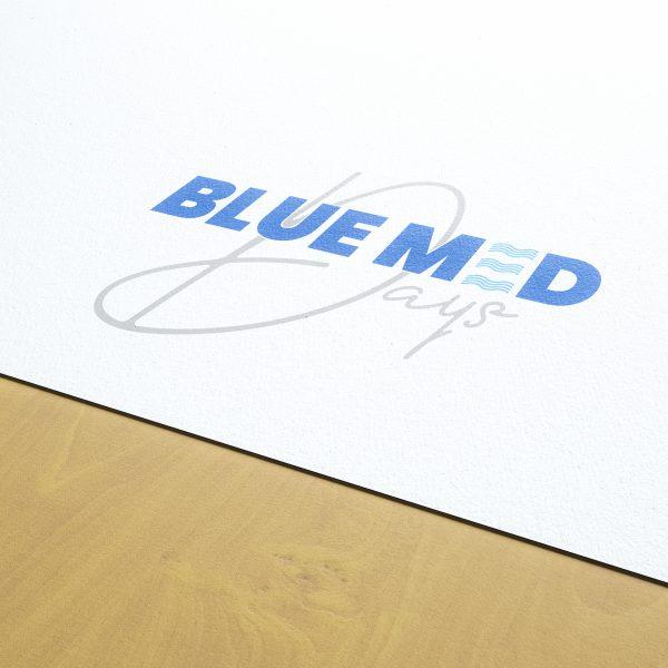 Création du logo des Blue Med Days et de l'univers graphique de l'événement