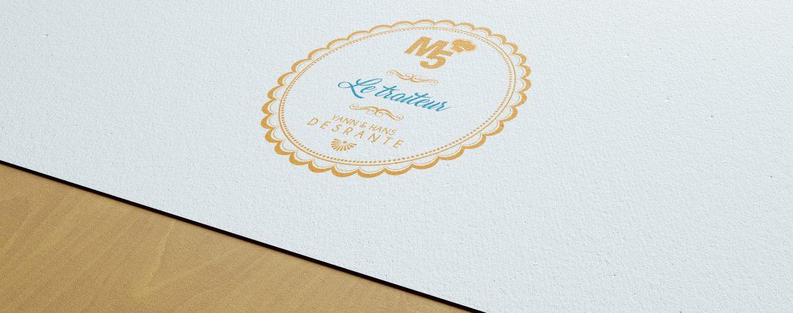 Création d'un logo traiteur pour le restaurant toulonnais le M5 à l'occasion de leur participation à un salon du mariage.