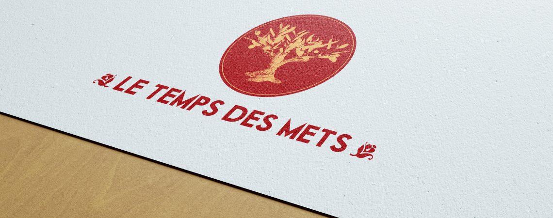 """Création du logo pour l'entreprise """"le temps des mets"""". Cette marque produit de manière artisanale des produits d'épicerie fine."""
